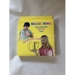 Magic Flow Ring Kinetic Spring Toy - 3D Shaped Sculpture Ring Stress Reducer